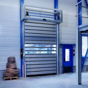 Safety Internal Entrance Hard Rolling up Door pictures & photos