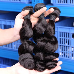 Mink Hair Stock Double Drawn Brazilian Remi Hair Wefts Hair Extensions pictures & photos
