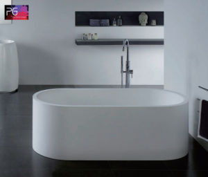 Factory Price Solid Surface Vertical Self Cleaning Bathtub