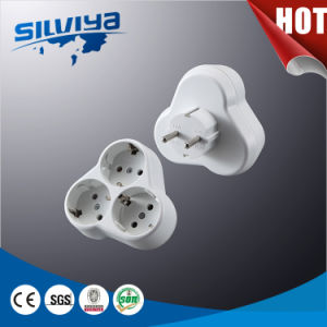 3 Gang European Plug Adapter pictures & photos