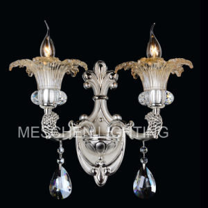 2 Lights Crystal Wall Sconce