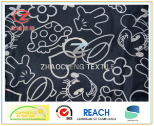 210t Poly Taffeta Drawing Picture Printing Lining Fabric (ZCGP013)