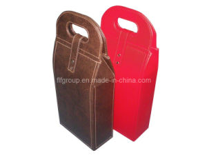 2014 New Design Red Leather Accessories Wine Case (FG8023S) pictures & photos