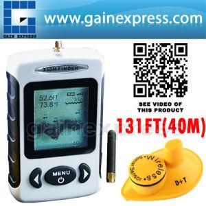 Wireless Portable Fish Finder Locator Sonar Radio °C// °F IPX4 Fishing Gear Tools