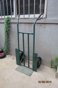 Heavy Duty Steel Hand Trolley with Pneumatic Wheels