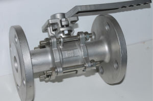 Cast Stainless Steel Manual High Platform Flange 3PC Ball Valve