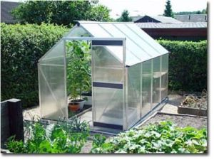Aluminum Garden Greenhouse with Polycarbonate Sheet