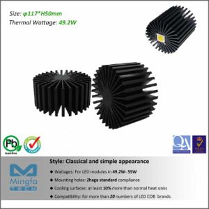 Diameter 117mm Height 50mm Thermal Resistance Rth 0.92 Cw CREE LED Aluminum Heat Sink