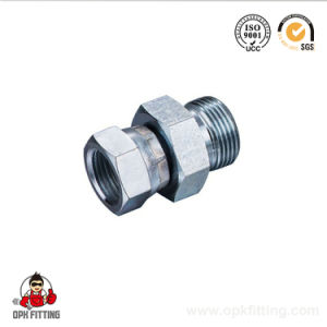 2b Bsp Male to Female Swivel Pipe Tube Fitting Carbon Steel Adapter pictures & photos