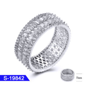 2019 New Design Popular 925 Silver Hip Hop Ring with Broken Glass 8mm