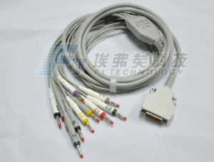 Mortara ECG Cable 10 Leads EKG Cable with Banana4.0 IEC Standard pictures & photos