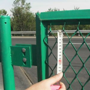 PVC Coated Expanded Metal Fence System