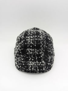 Knitted Black and White Color Cap Western Style Casua IVY Cap (YS002) pictures & photos