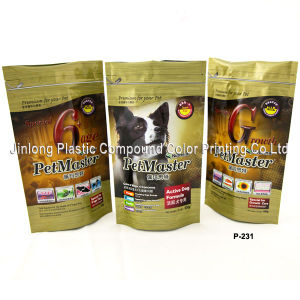 Zip Lock Dog Food Bags with Bottom Gusset pictures & photos