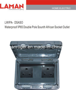 LWIPA-DSASO IP65 Waterproof Double Pole South Africa Socket Outlet