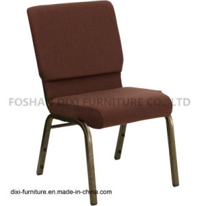 Brown Fabric Stacking Church Chair