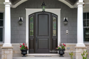 Mahogany Exterior Home Front Entry Left Hand Swing Main Entrance Door