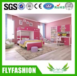 New Design Wood Doubld Bed with Ladder Stand (BD-01) pictures & photos