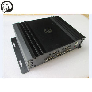 Intel Atom D2550 Fanless PC Linux System with 2 LAN/6*COM DC-12V Input Power pictures & photos