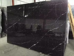 Nero Marquina Black Marble Slab for Flooring and Wall/ Countertop