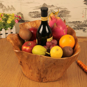 Hot Selling Carved Wooden Fruit Bowl Top Quality Flower Pots pictures & photos
