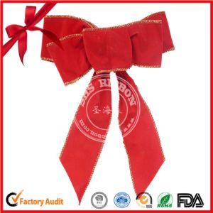Christmas Decorative Red PP Ribbon Butterfly Bow