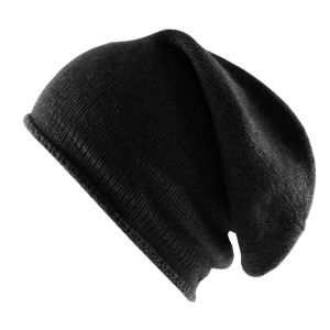 High Quality Black Crocheted Beanie pictures & photos