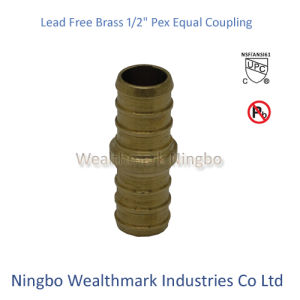 "Lead Free Brass 1/2"" Equal Coupling Pex Pipe Plumbing Fitting pictures & photos"