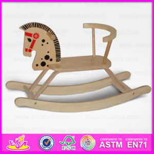 2015 Excellent Quality Kids Wooden Toy Rocking Horse, Wooden Children Ride on Animal Toy, Funny Plush Rocking Horse Toy Wj278584 pictures & photos