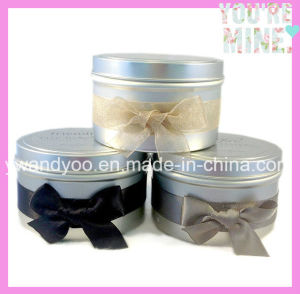 Scented Soy Tin Candle with Colorful Bowknot