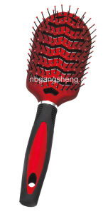 Popular Hair Brush with Rubber Finish pictures & photos