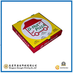 Customized Corrugated Paper Pizza Box (GJ-PizzaBox032) pictures & photos