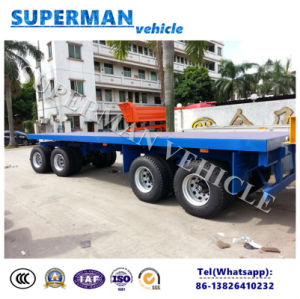 9m 4 Axle Flatbed Drawbar Pulling Dolly Full Semi Truck Trailer pictures & photos