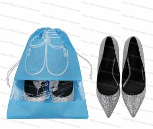 Draw String, View Window Non Woven Lady Shoes Bag M. Y. D-045