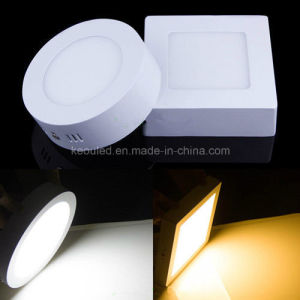 Premium White Surface Mount Round/Square Ceiling LED Panel Light 6W/12W/18W/24W pictures & photos