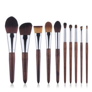 China Best Makeup Brush Sets 10 Pcs Wood Handle Soft Horse Fiber Hair Kabuki Powder Blush Liquid Eyeliner Eyeshadow Lip Eyeliner Brush By It Supplier Manufacturing China Makeup Brush And