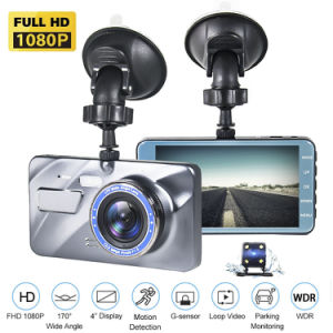 """4/"""" FHD 1080P Car DVR 170°Wide Angle Dash Cam Night Vision G-sensor w//Rear Camera"""