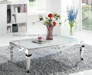 White Marble Home Furniture Square Coffee Table (CT8113L)
