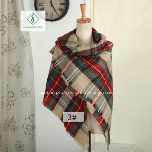 High Quality Cashmere Plaid Shawl Lady Fashion Acrylic Square Scarf