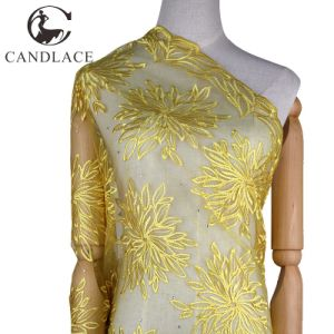 Plain Color Lace Dress Fabric Embroidery for Wedding pictures & photos