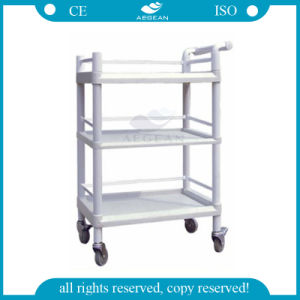AG-Uta06 Best Selling Hospital Three Layers Durable Medical Device Trolley pictures & photos