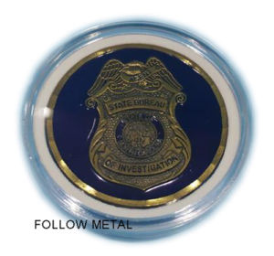 Custom Coin for Promotional Gift with Round Plastic Box