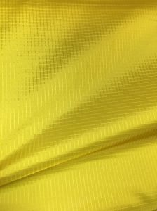 340t 0.35 Ripstop Check Nylon Taffeta Shiny Double Line Taffeta Fabric for Jacket pictures & photos