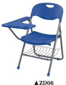 Hot Sale Plastic Training Folding Chair with Writing Pad