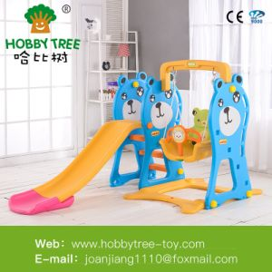 China Kid Indoor Plastic Swing and Slide Set - China Outdoor Slide ...