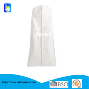 White Long Non Woven Prom Briadal Evening Dress Cover