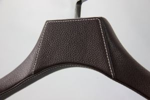Leather Surface Wooden Inside Coat and Pants Hanger pictures & photos