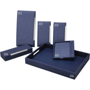 Leather Product Navy Blue Series Hotel PU Leather Amenities pictures & photos