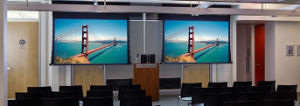 Tab Tension Motorized Projection Screen, Electric Tab Tensioned Screen pictures & photos
