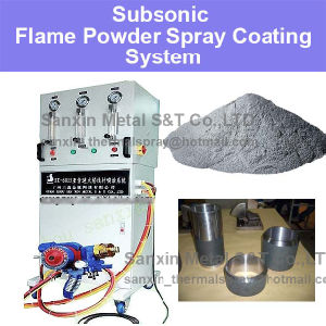 Flame Powder Spraying System for Metal Surface Treatment Repairing Brass Nickel Stainless Steel Ceramic Coatings Machine Spraying Torch